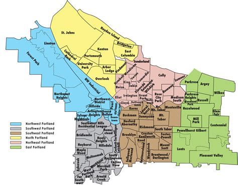 map of neighborhoods portland oregon neighborhoods guide pdx listed