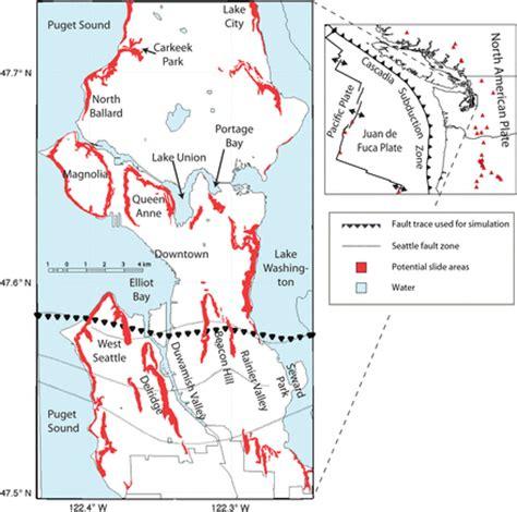 seattle hazard map seattle seismic map images