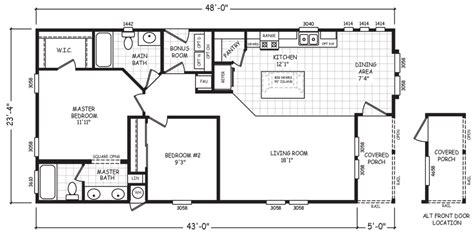 house plans with basement 24 x 44 24 x 48 double wide homes floor plans