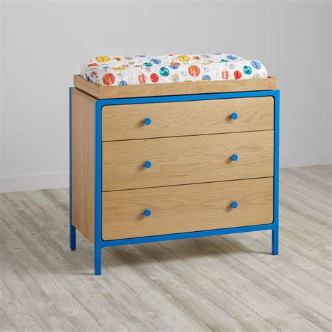 blue changing table rustique the rehab boutique baby