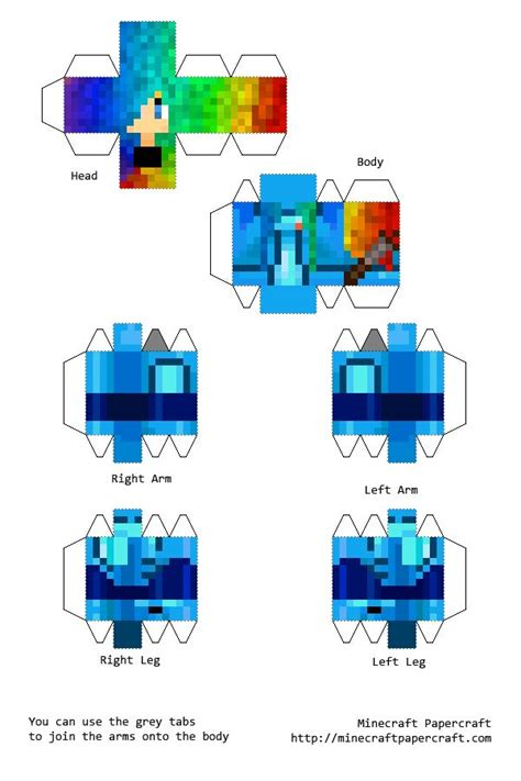 Papercraft Minecraft Skin - papercraft minecraft on this picture deviantart