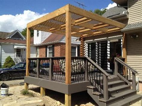 Pergola Design Ideas Pergola On Existing Deck And Pergola