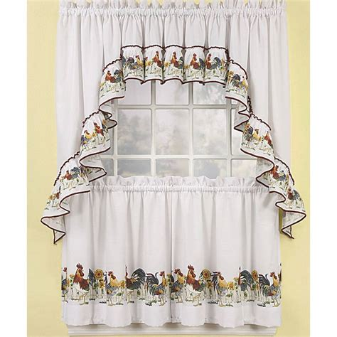 Rooster Curtains Valances Saturday Knight Waverly Rooster Kitchen Curtains Valances