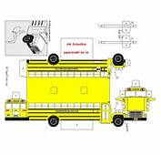 School Bus Paper Models Submited Images  Pic2Fly