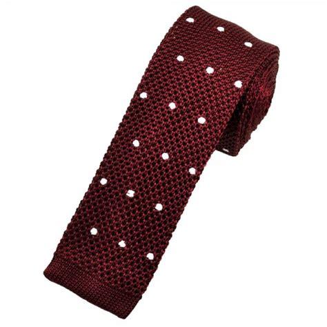 knitted silk ties uk burgundy white polka dot silk knitted tie from ties