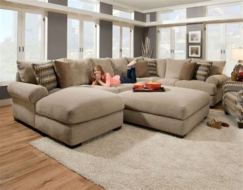 sectional with oversized ottoman cozy oversized sectional sofa awesome homes super