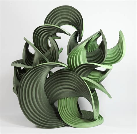 Erik Demaine Origami - fuller craft series 2011 curved crease sculpture by