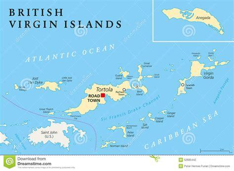 british virgin islands map location british virgin islands political map stock vector image