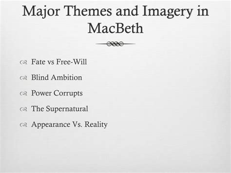 key themes in macbeth ppt macbeth powerpoint presentation id 3176728