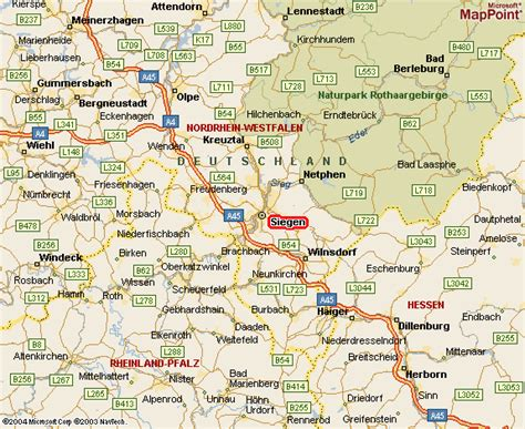 cities in germany siegen map