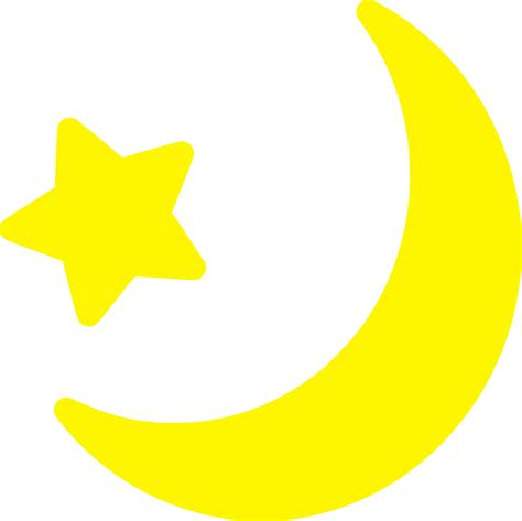 moon clipart clipart yellow moon and icon