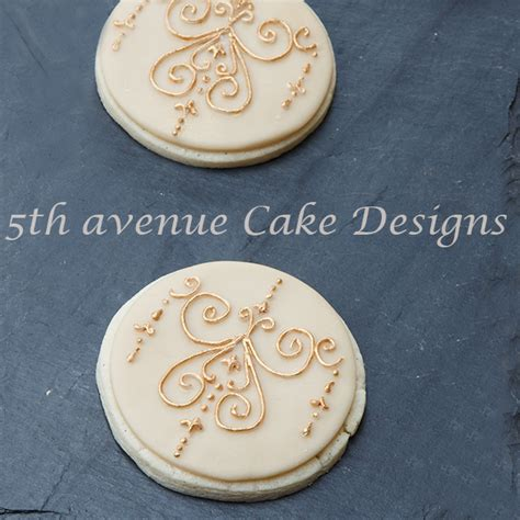 Royal Icing Unstructured Filigree Digital Medallion Filigree Cookies 5thavenuecakedesigns