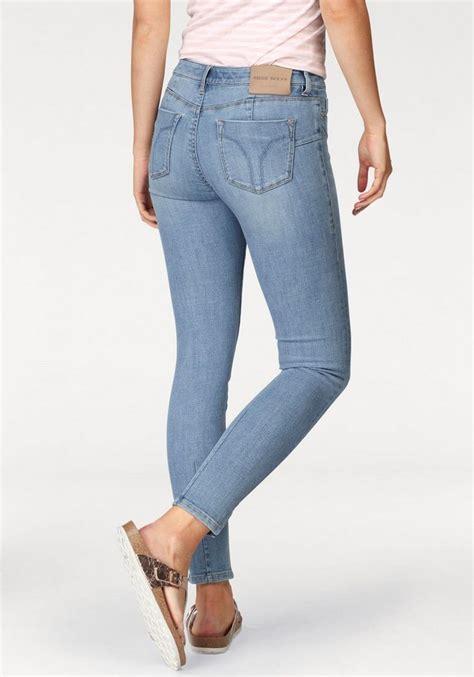 sixty skinny fit jeans bettie mit trendy schlitz