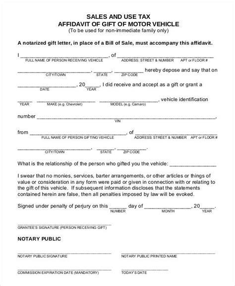 Gift Letter Affidavit vehicle gift form vehicle ideas