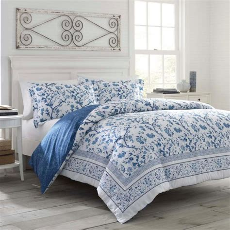 laura ashley charlotte blue  piece twin comforter sets