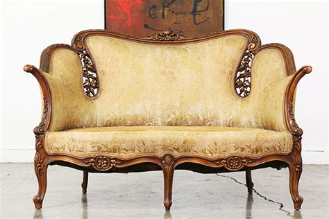 wooden carved sofa antique french wood carved sofa vintage supply store