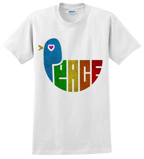 Tshirt Black Choose Peace peace and dove vegan t shirt design