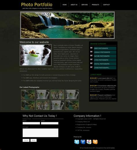 photography portfolio templates free photography portfolio web template photo portfolio