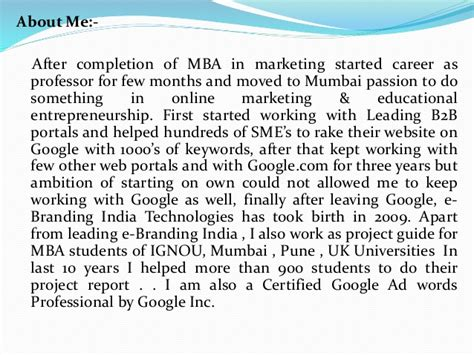 Centre For Distance Education Mba Project by Mba Project Report Of Symbiosis Centre For Distance Learning