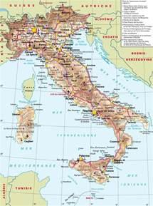 carte italie plan d italie