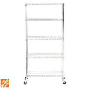 home depot wire shelving seville classics 5 tier 18 in x 36 in commercial wire