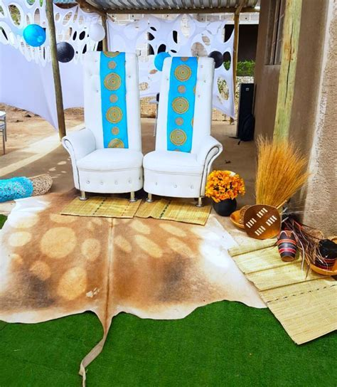 Turquoise blue Venda traditional wedding decor   bride and