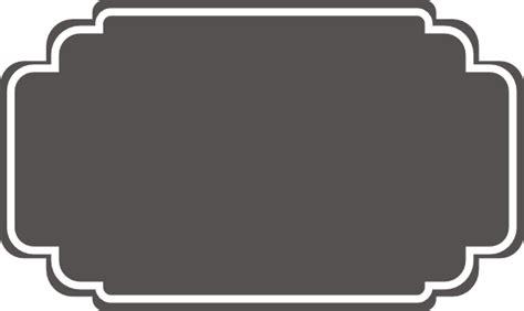 grey label grey wedding label clip at clker vector clip