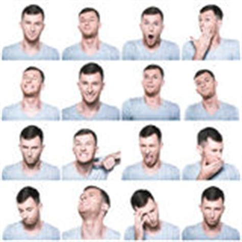banco delle emozioni composto delle emozioni e dei gesti negativi con la