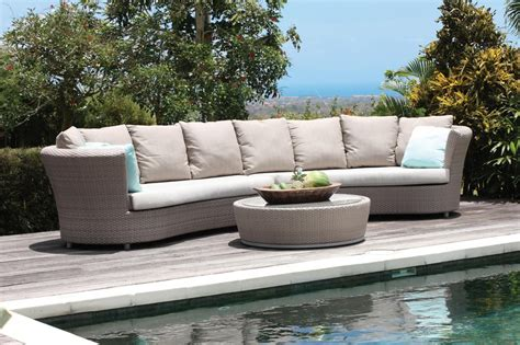 Curved Rattan Sofa Outdoor Sectional Sofa Set Rattan Curved Outdoor Patio Furniture
