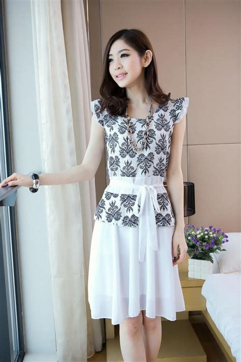 Dress Onafi White Grosir Dress Murah Dress Wanita Dress Terbaru cari baju muslim 2014 design bild