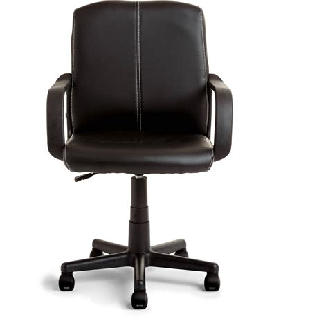 Rolling Chair - mainstays leather mid back rolling swivel office chair
