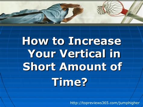 how to increase your vertical jump in amount of time