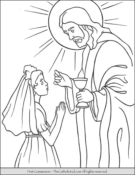 Holy Communion Printable Coloring Pages by Communion Coloring Page Thecatholickid