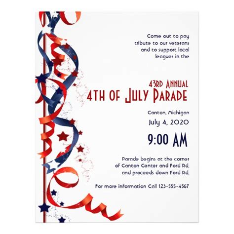 fourth of july flyer template free unique invitation flyer templates and designs