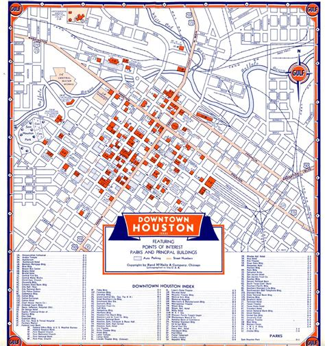 map of downtown texas bayou city history houston june 2006