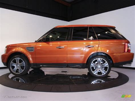 land rover orange orange range rover
