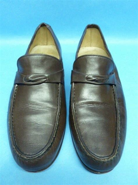 bally brown loafers mens 6 5 m quality italian leather shoes ebay