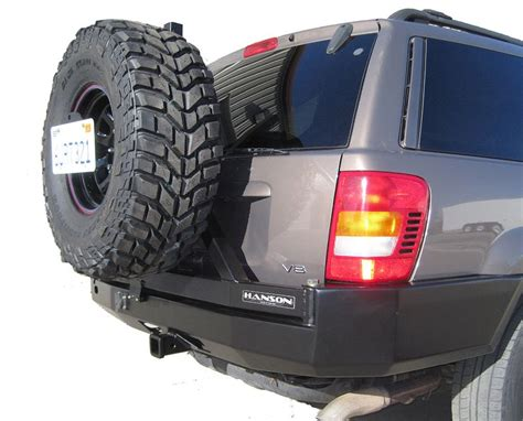 jeep grand cherokee rear bumper hanson wj grand cherokee rear bumper tire carrier