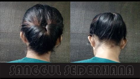 tutorial gelung rambut simple step by step sanggul modern tutorial model sanggul
