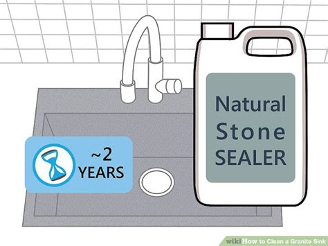 How To Clean White Granite Sink by 3 Ways To Clean A Granite Sink Wikihow