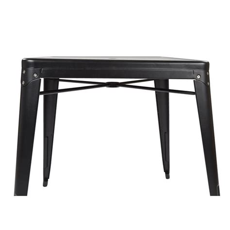Black Metal Bistro Table Metal Patio Bistro Table In Matte Black Brw432u C230