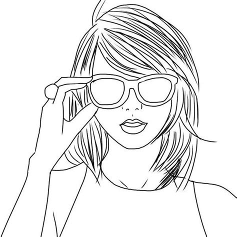 taylor swift coloring pages easy outline taylor swift my drawings pinterest taylor