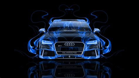 Audi RS7 Front Fire Abstract Car 2014   el Tony