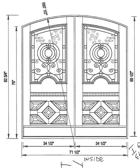 Exterior Door Height Custom Exterior Door Sizes
