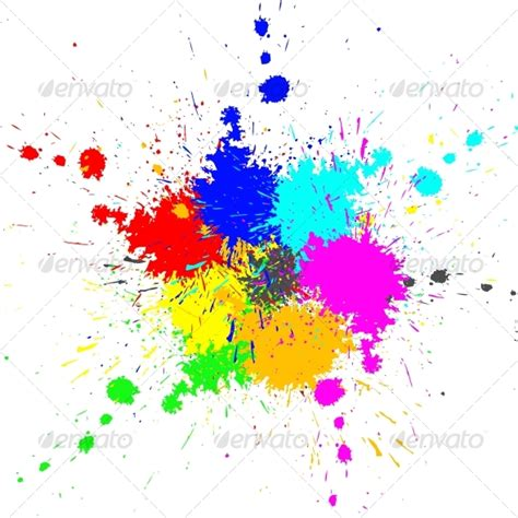 color paint splashes background by codeanddesign graphicriver