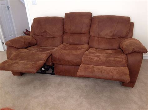 harveys bel air 3 seater manual recliner sofa in