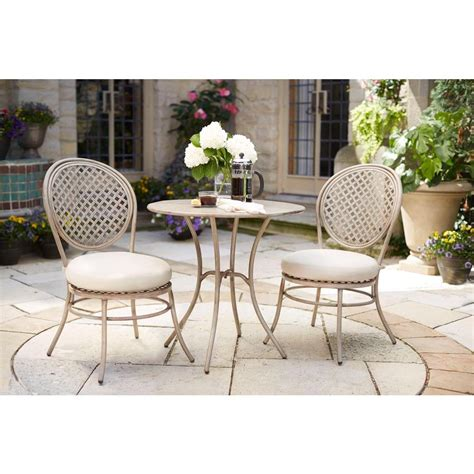 Caq Fe Set Levita Maroon Limited 2 hton bay 3 patio bistro set d11117 3pc the home depot