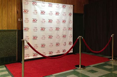 event backdrop layout red carpet runway and step repeat backdrops