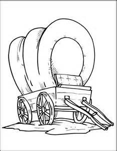 Covered Wagon Coloring Page Free Pages Of Wagons sketch template