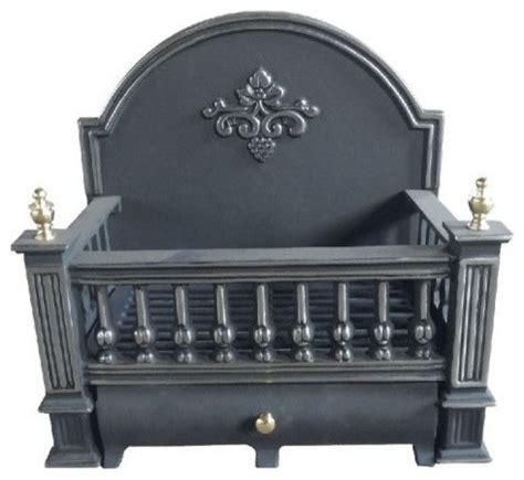 Basket Fireplace Grate by Ci910 Black Cast Iron Basket Grate With Fireback 18